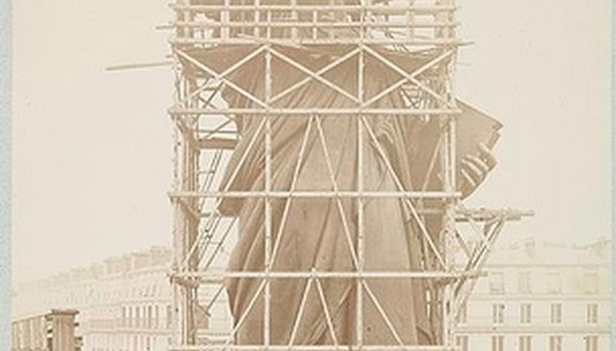 Lady Liberty under construction