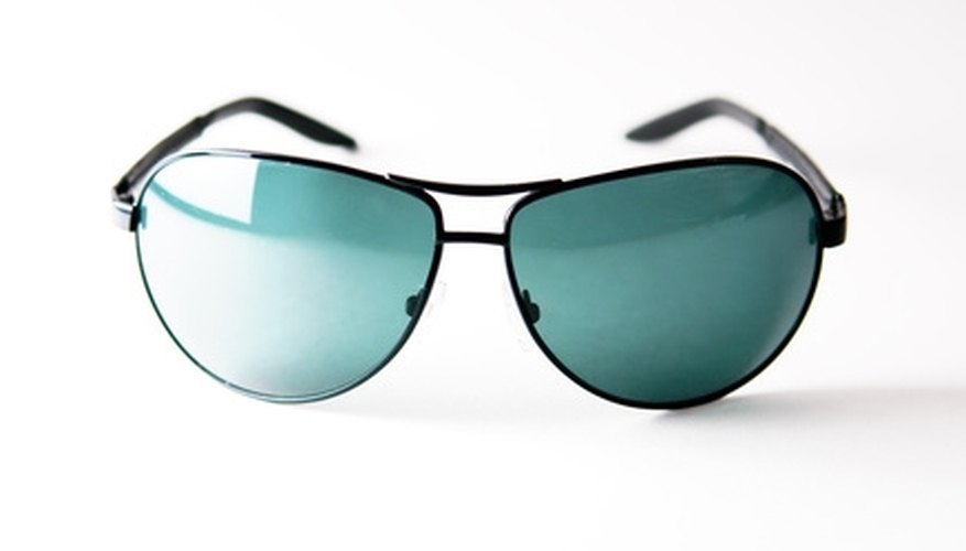 Green-tinted sunglasses boost color clarity.