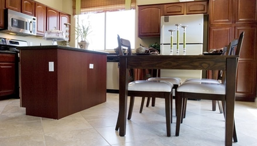 Rearrange your kitchen cabinets to give your kitchen a new layout.