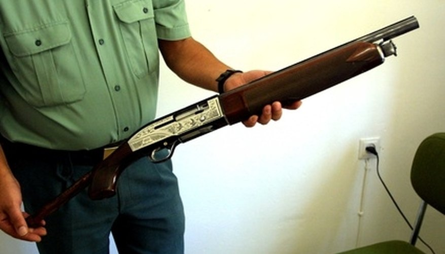 End-Cap on a Pump-Action Shotgun