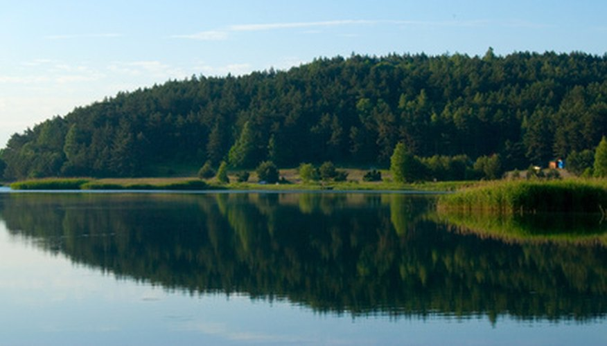 Typical type of lake in which pike are found.