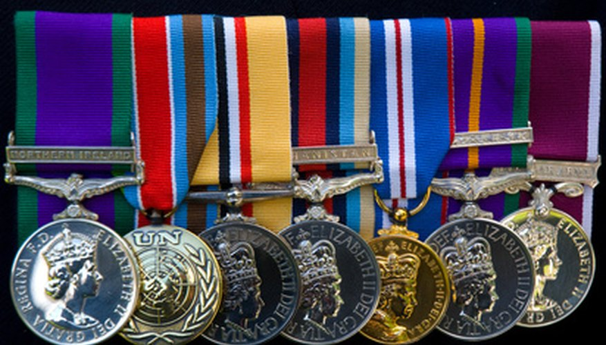 Full-sized medals are mounted differently than miniature medals.
