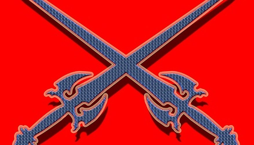 Crossed swords as a military symbol are found throughout history.