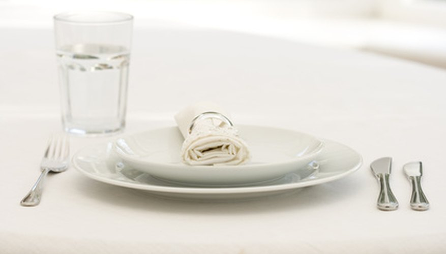 Proper table setting reflects good etiquette.