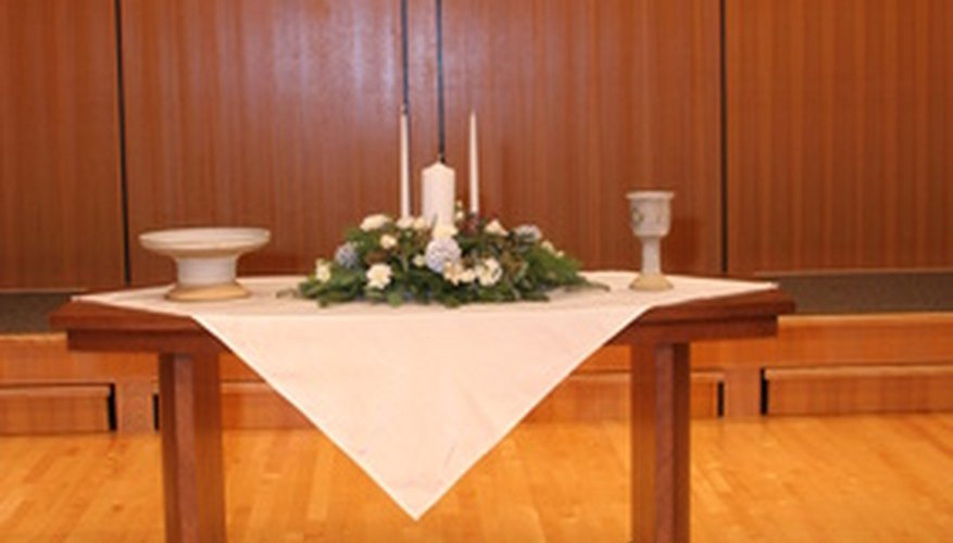 A simple communion table