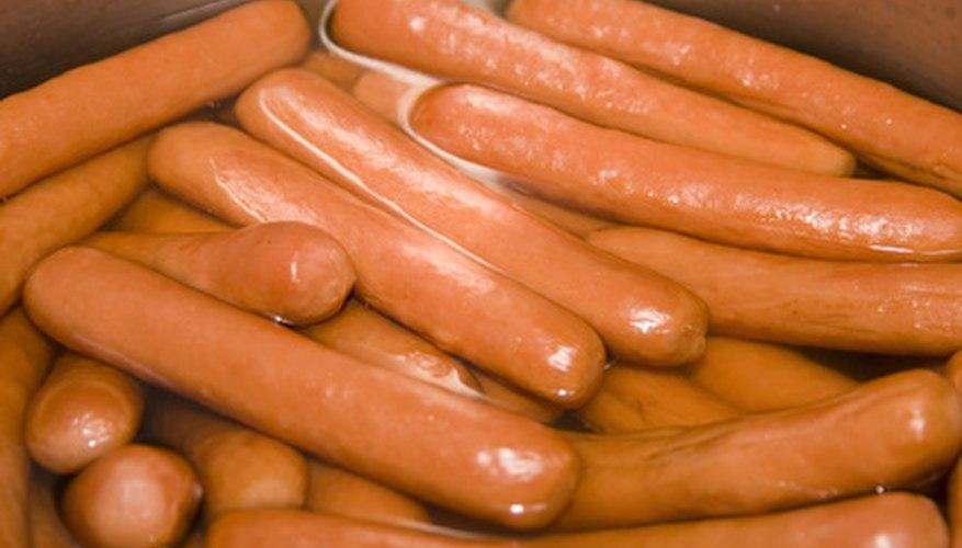 Using hotdogs works best.