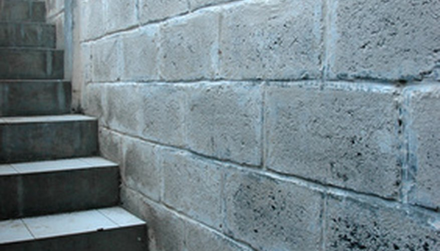 Concrete blocks and stone have insulating qualities to help maintain a constant temperature.
