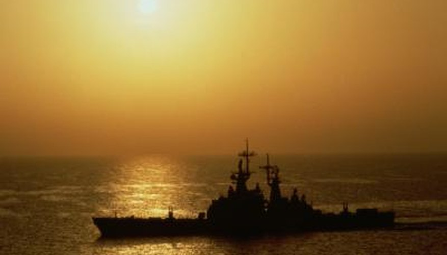 Silhouette of the USS Mississippi