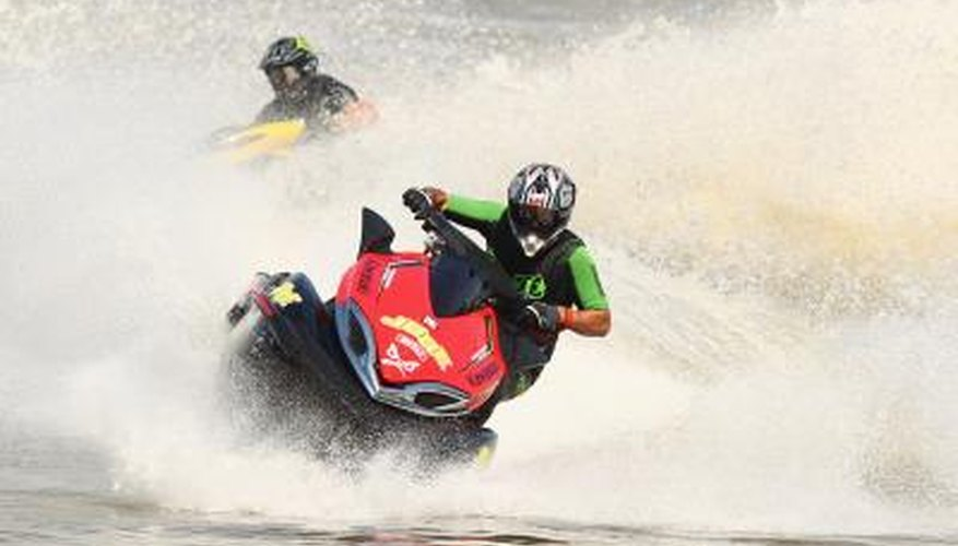 Jet ski riders on Australia river