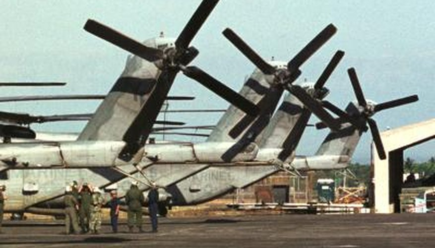 Military helicopters and troops on air base in the Philippines