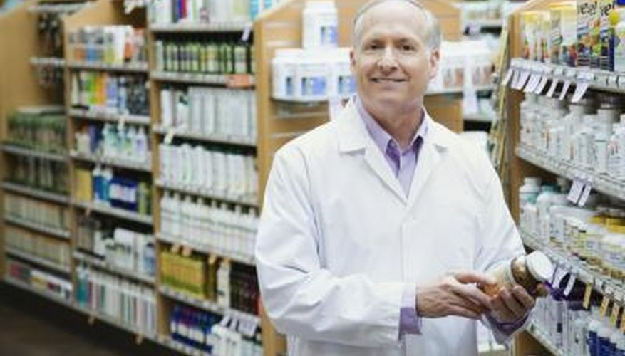 Pharmacist in a health food store.