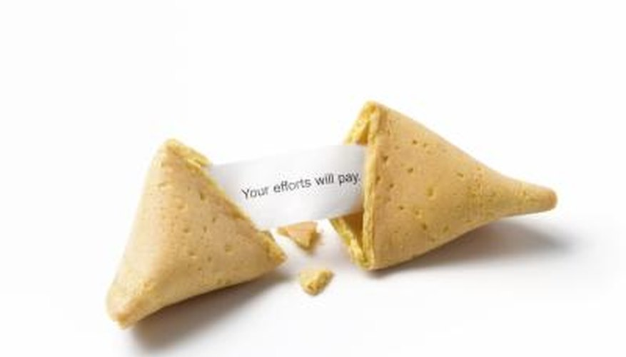 Good fortune represented by a Fortune Cookie.