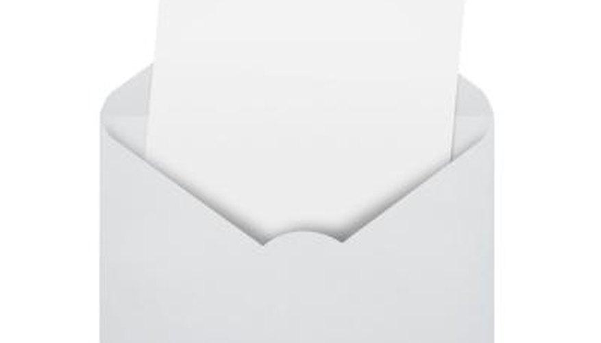 Invitation and envelope.