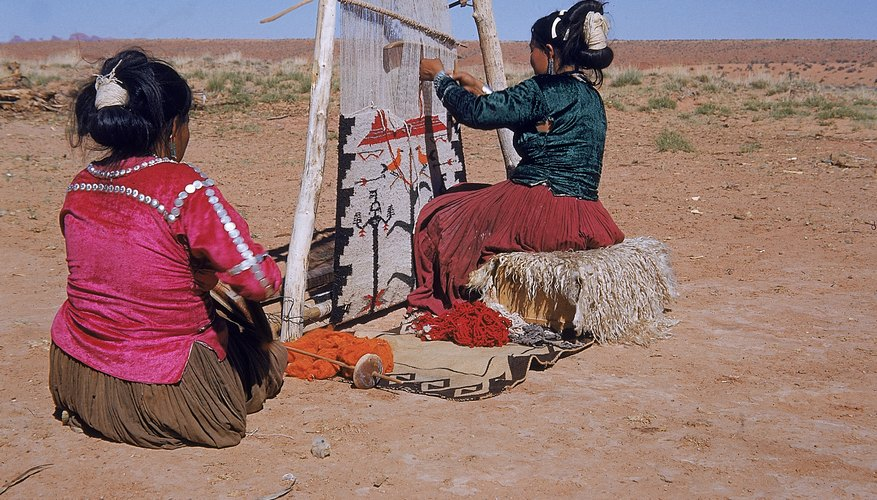 Today's Navajo people practice weaving techniques likely developed by their ancestors.