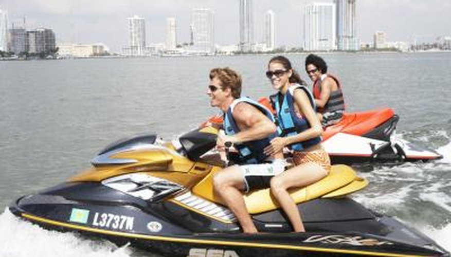 friends jet skiing at Key Biscayne