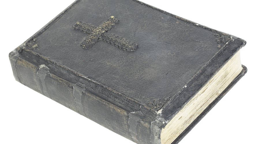 A Bible often contains family birth and marriage dates.