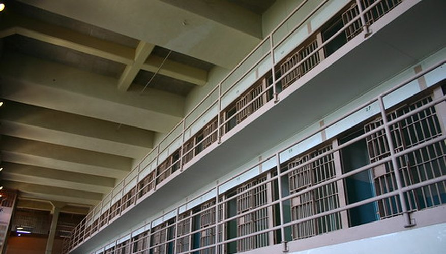 Row of cells in a prison, where an offender will serve his assault sentence.