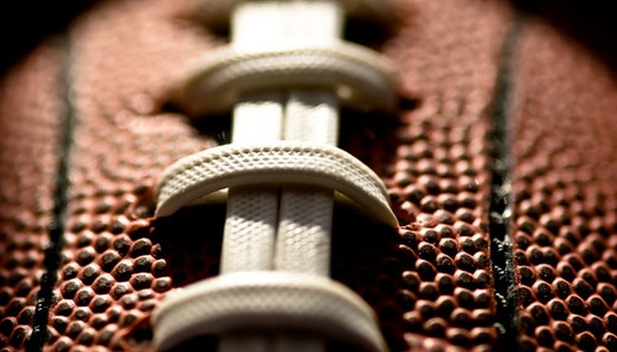 Surprise--the old pigskin is really pebble-grained cowhide.