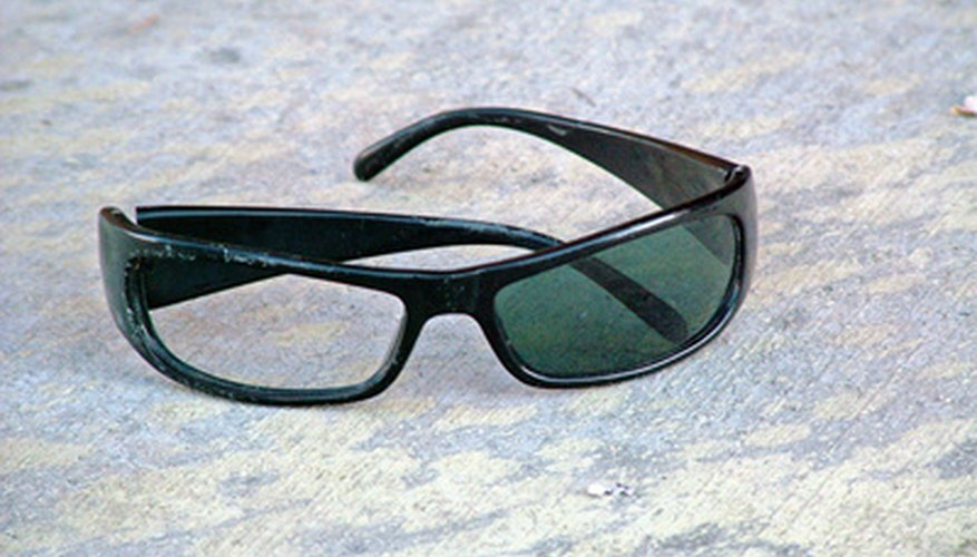It is possible to remove the colour from some sunglasses.
