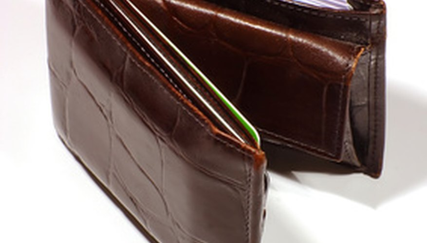 Leather wallets are nice looking.