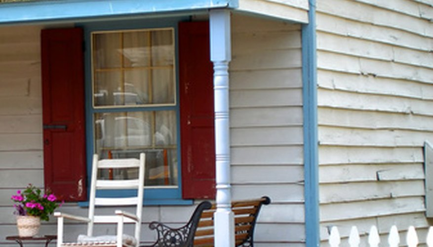 This porch is a perfect candidate for a DIY project.