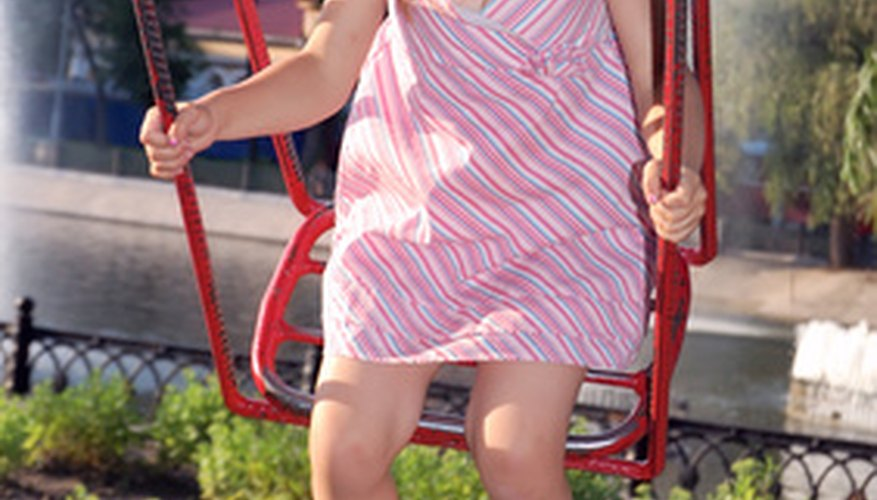 A correctly stabilised swing set is essential to ensure children's safety.