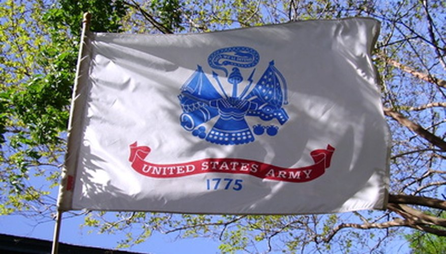 Military flags call for their own protocol.
