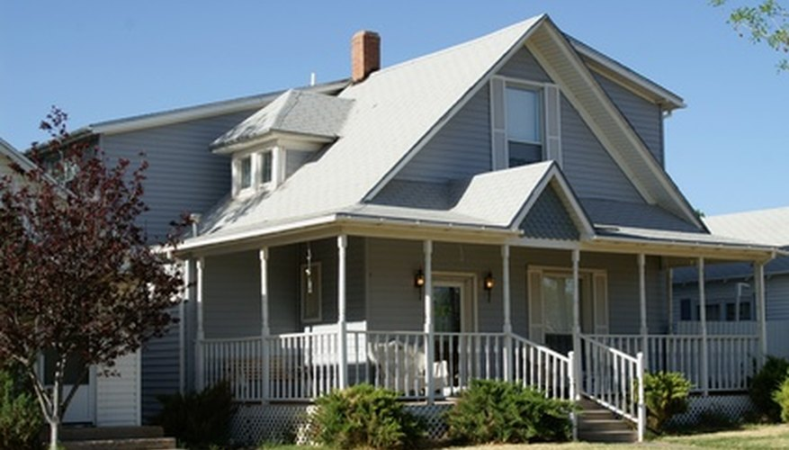 If you build a new porch, you may have to tie the porch roof into your home's existing roof.