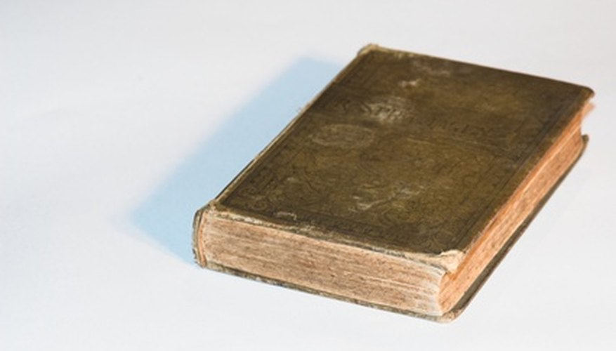 Old books with water stains can be restored to a better condition.