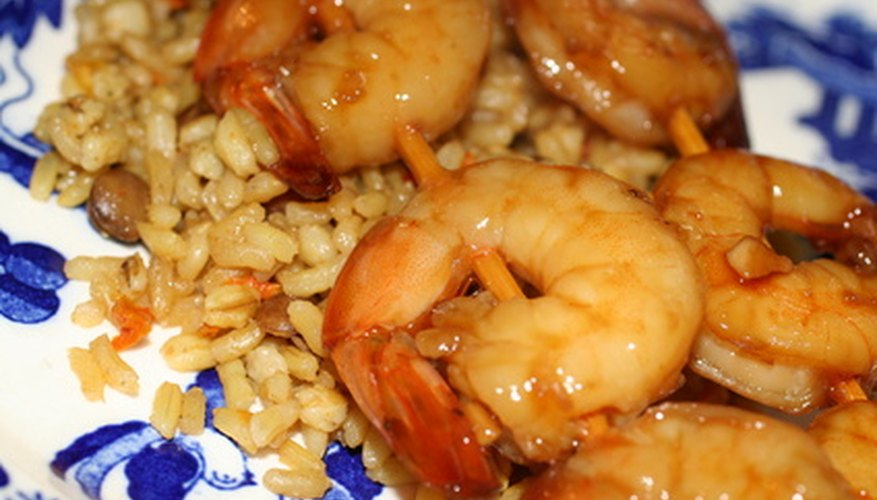 Shrimp with rice.