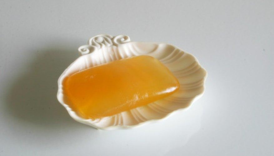 Glycerine soap helps remove enamel paint from skin.