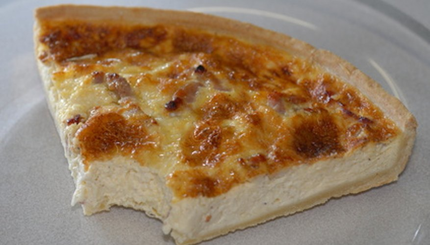 You can check whether a quiche is done in several ways.