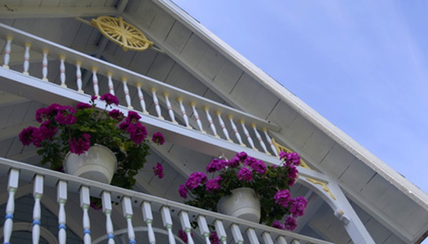 Hanging baskets are perfect for porches.