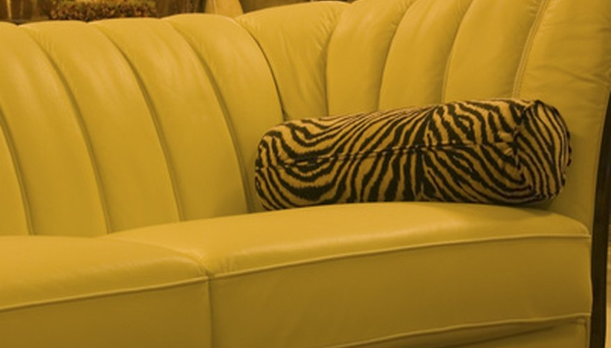 Many couch cushions slide out of place easily, but there is a simple solution.