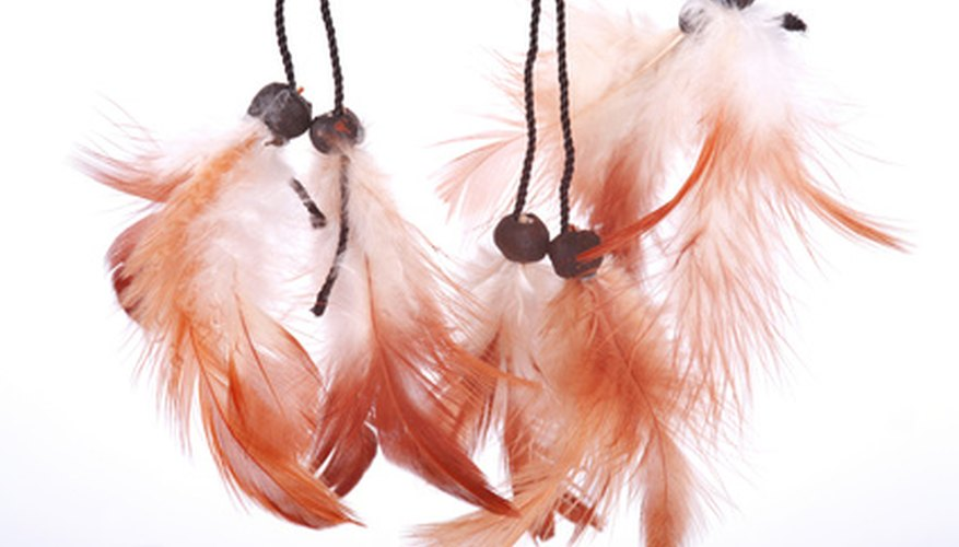 Indian faith maintains that spirit stick feathers symbolize the departure of evil entities.