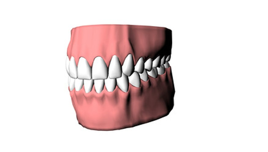 Acrylic teeth are often used in real dental applications.