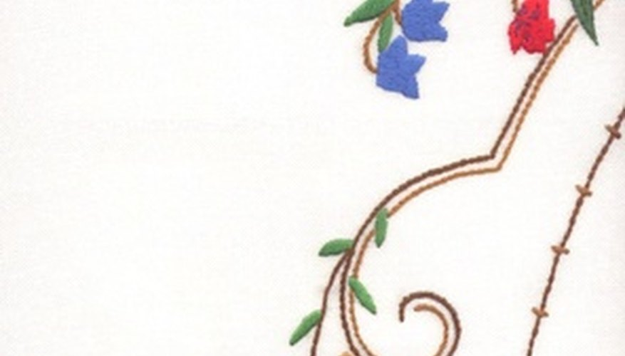 Use crewel embroidery for traditional designs.