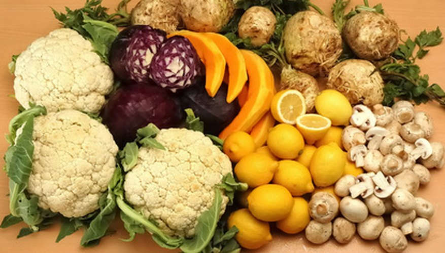 A healthy diet is rich in fruit and vegtables.