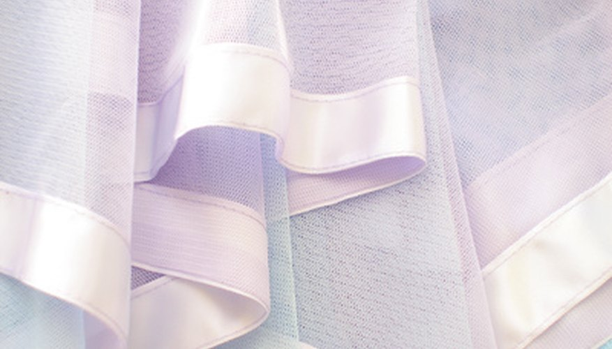 Sheer fabrics (shown in picture) make beautiful fashion and home accessories.