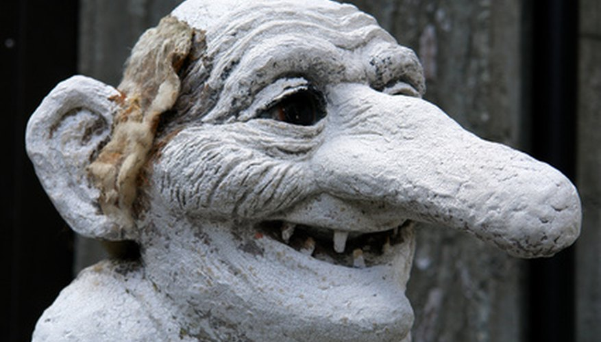In mythology, trolls are hideous looking creatures.