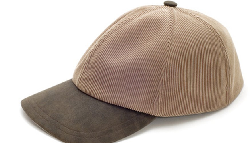 Removing wrinkles from a baseball cap is an easy process.
