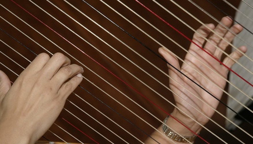 Students can create a simple harp out of junk scraps.