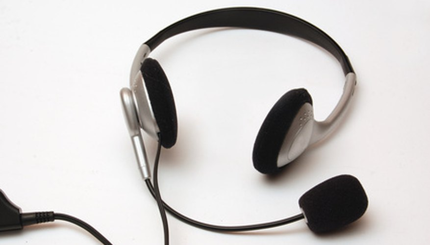 Test your headset microphone with a computer.