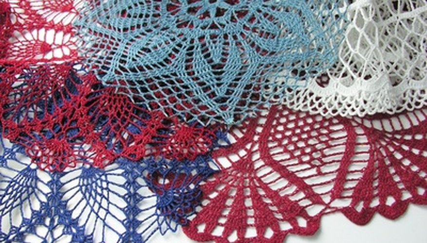 Crochet cotton comes in many colours, sizes and styles.