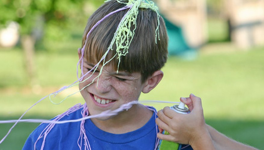 Remove Silly String stains from skin, clothing and other surfaces.