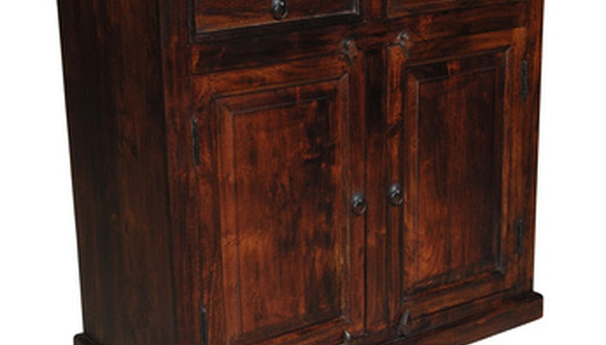 A large dresser can easily be converted into an attractive vivarium.