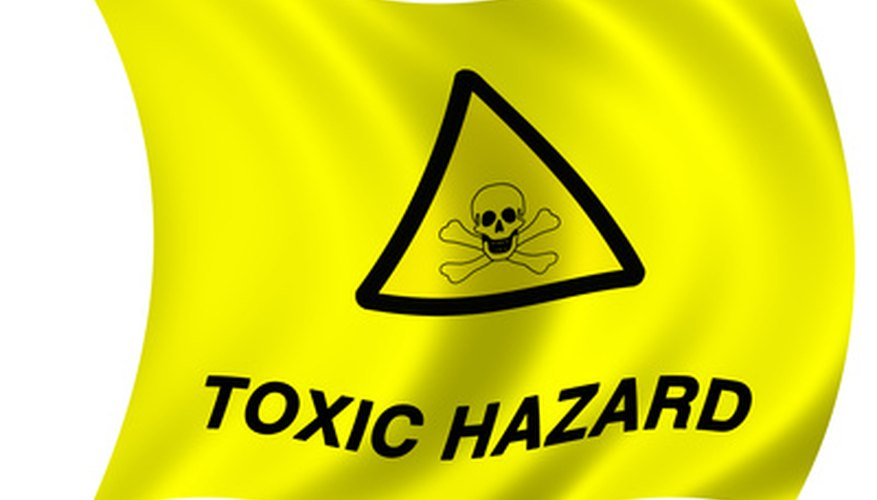 Many spot cleaners and rubbing alcohols are highly flammable and are considered hazardous waste.
