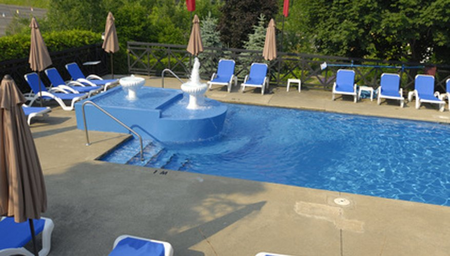 Chlorine is a common disinfectant used to control growth of bacteria in swimming pools.