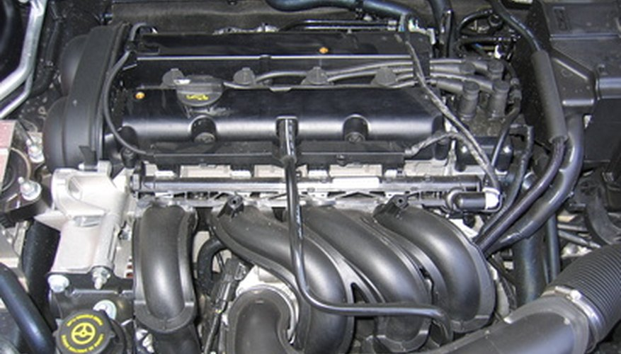 Fuel injectors feed a hungry engine with precisely measured doses of gasoline.
