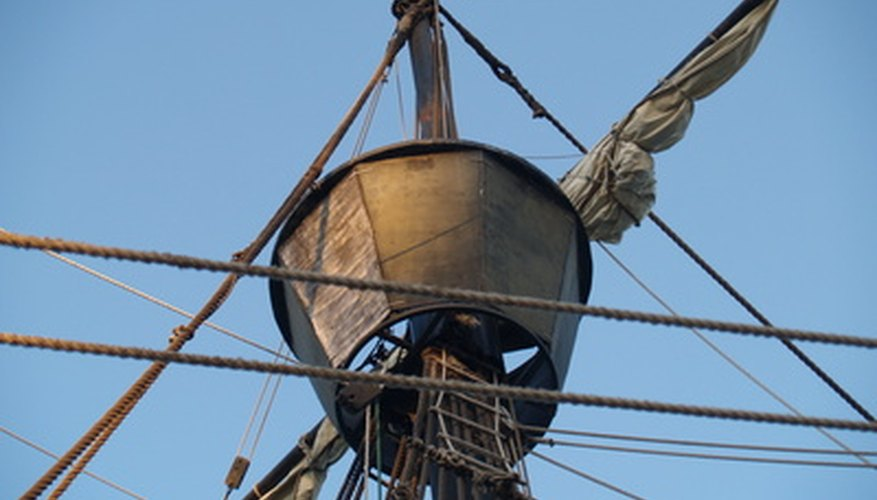The mainmast of a caravel often supports a crow's nest, for observation and announcements of: